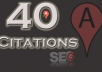 submit your business details on the 40 TOP US CITATION SITES  to boost your google places listing