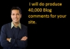 make 40,000 blog comment backlinks.........