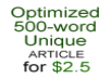 write two SEO optimized 500-word article on a keyword