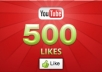 give you 500 REAL youtube likes to your youtube video, all likes deliver with 7 days........