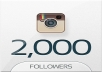 will 2000 Instagram Followers OR 2000 Likes(split upto 5 links) In less then 2 hours