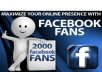 provide you with 2000 likes in your facebook fanpage within 24 hours