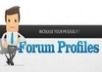 Create 25 High PR Links in Forum Profiles Manually + Ping to Over 100 Web Directories for Quality Targeted Traffic