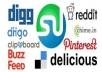 create Social bookmarking submission Manually to 200+ sites Including Top 50