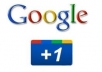Get You 100% Real 20+20+20 Google Plus One Like/Vote only