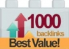 build 1000 GUARANTEED Backlinks + Free Super Bonus @!