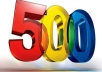 give you 500 verified Facebook fan page like