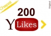 provide you 200 REAL YouTube Likes to your video to blast your popularity.......