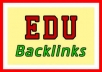 get 800 EDU seo links for your website through blog comments .........