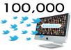 provide 105,000 REAL LOOKING twitter followers without admin access with fast delivery