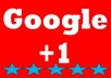 give you 100% real manual 50 google+1 in your any site only