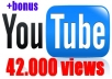 give your YouTube Video Over 42.000 Views + 100 Likes Guaranteed within 72hours - 98 hours
