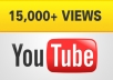 send 15,000 guaranteed YOUTUBE views