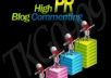 do 2 PR6 8 PR5 10 PR4 10 PR3 High PR blog comments manually