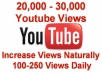 add natural video views 20K-30K Youtube Views 100-250 views per day +50 Likes +100 Subscribers +Favorites