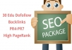 create 30 Edu Dofollow Backlinks PR4-PR7 High PageRank MANUAL SUBMISSION