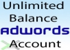 Unlimited Google Adwords Account