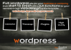 build a full wordpress site for your business or company from start to finish with a full functions for your services &amp; high webdesign of the template