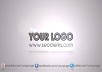 make a clean corporate video intro with your social network URLs and logo