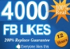 get you 4000+ Fully Real [Repleace Guaranteed] facebook likes to your fanpages in less then 12 hours !!!!!!!!!!!!!!!!!