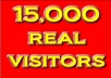 send 15,000 High Quality, Real Human Visitors to your website