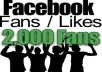 provide you 2000 100% Real Facebook Fanpage Likes 