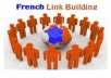 submit manually your site to 20 high pagerank of France directories