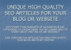 give 10000+ UNIQUE HIGH QUALITY SEO PLR Articles for all niches, categories &amp; sub-categories