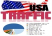 send 10,000+ global visits with 40-70% of USA visitors