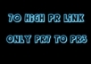 70 High PR7 to PR3 Profile Backlinks most of them are dofollow