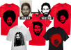 design creative t shirt with your portrait