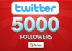 give you 5000+ [Staying] twitter followers, all Real Looking High Quality twitter followers deliver within 24 hours!!!!!!!!!!!!!!