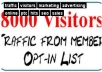send 18000 visitors to your URL or your website