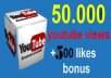 give your YouTube Video views Over 50000++ Views + 500 Likes Guaranteed within 72hours - 98 hours