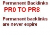 create an 5,000 permanent backlinks (PR0 to PR8)