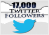 add 17000 twitter follower to your any twitter account less than  21 hours