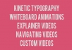 make a short KINETIC typography video................