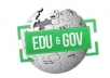 create 50 POWERFUL Edu and Gov Backlinks to Your Web Property Quickly ............