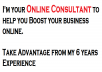 Give You Full 1 Hour 1-on-1 Consultancy Service, How to Promote Your Business Online From My 6 Years Experience