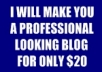I Will Build You A Word Press Blog With A Header, Any 3 Ads You Want to Promote, 2 Articles I Will Write For You, Add Lot's of Plug-ins including PringFresh, which will give you tons of visitors.