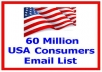 sent 60 Million mail marketing use for many purposes