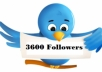 send 3600 twitter followers on your profile, large volumes of twitter followers accounts have profile pictures