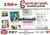 make 150 Pinterest Backlinks, 150 Incoming from PR7 Domain Best Social Media Signals to Boost Google Rankings and Traffic, Social Signals..................