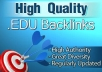create 50 EDU and .GOV links to your site