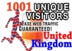 send 1001 Real Human UK visitors to your website within 4 days