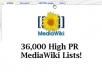 give you a list of 36,000 High PR MediaWiki that you can edit and use for your seo Link Building @!
