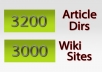 give you 3200+ article directories + 3000 wiki sites@!
