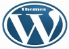 provide and install a HIGH QUALITY Wordpress Theme and 10 FREE WP Plugins