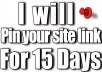 pin your site link for 15 days