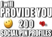 PROVIDE you 200 pinterest accounts